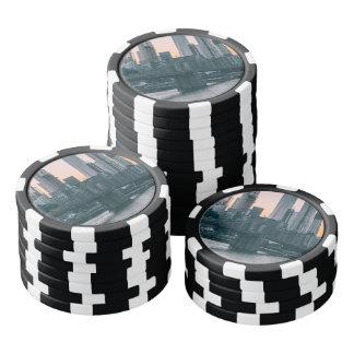 Brooklyn Bridge and downtown Manhattan New York Poker Chips