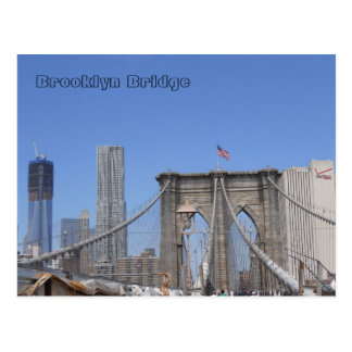 Brooklyn Bridge and Freedom Tower Postcard