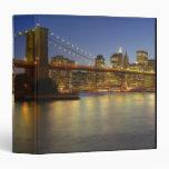 Brooklyn Bridge and New York City buildings Vinyl Binder