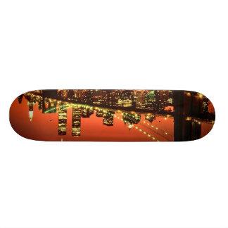 Brooklyn Bridge at Night Custom Skateboard