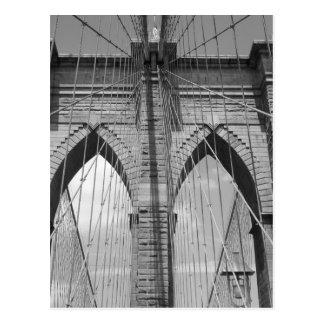 Brooklyn Bridge - B&W  Postcard