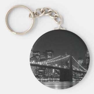 Brooklyn Bridge Black/White Keychain