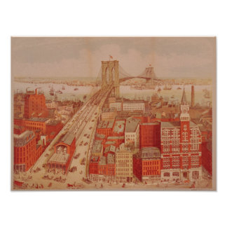 Brooklyn Bridge, c.1883 Poster