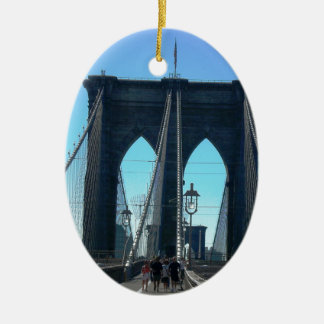 Brooklyn Bridge Ceramic Oval Ornament