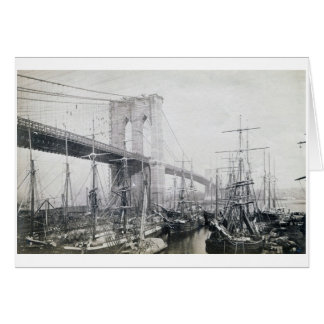 Brooklyn Bridge  circa 1883 Card