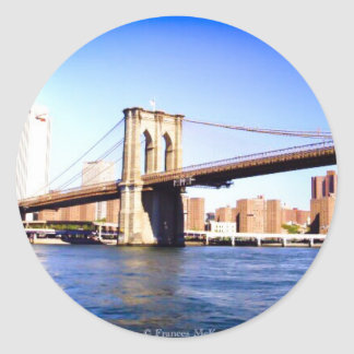 Brooklyn Bridge Classic Round Sticker