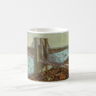 Brooklyn Bridge Color Postcard Coffee Mug
