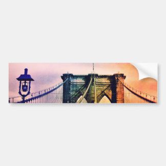 Brooklyn Bridge - Colorful - New York City Bumper Sticker