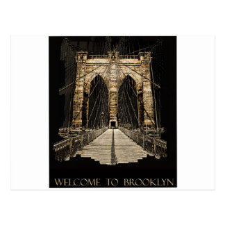 brooklyn bridge copy postcard