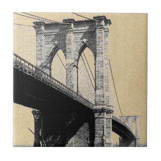 Brooklyn Bridge Ferry Boats 1896 Ceramic Tiles