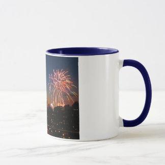 Brooklyn Bridge Fireworks Mug