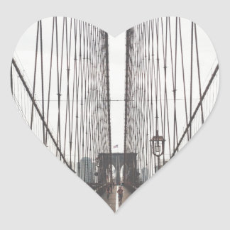 brooklyn bridge heart sticker