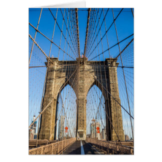 Brooklyn Bridge in the early morning Card