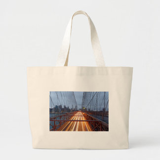 Brooklyn Bridge in the evening Large Tote Bag
