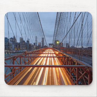 Brooklyn Bridge in the evening Mouse Pad