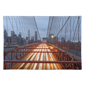 Brooklyn Bridge in the evening Placemat