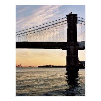 Brooklyn Bridge in the Evening Postcard