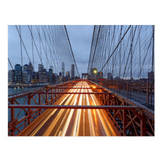 Brooklyn Bridge in the evening Postcard