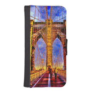 brooklyn-bridge iPhone SE/5/5s wallet case