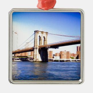 Brooklyn Bridge Metal Ornament