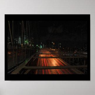 Brooklyn Bridge Never Sleeps Poster