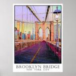 Brooklyn Bridge, New York City Poster