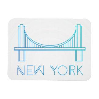 Brooklyn Bridge   New York City Rectangular Photo Magnet