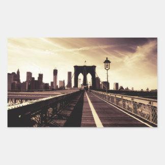 Brooklyn Bridge - New York City Rectangular Stickers