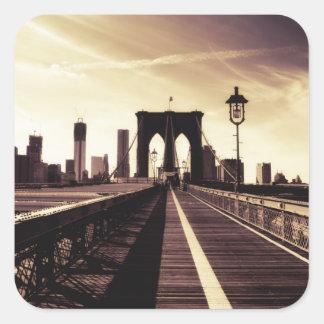 Brooklyn Bridge - New York City Square Sticker