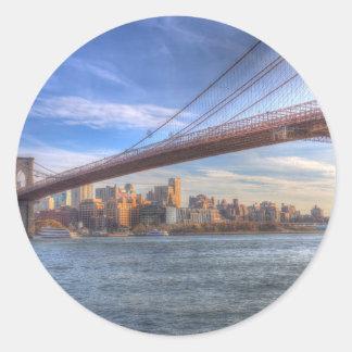 Brooklyn Bridge New York Classic Round Sticker