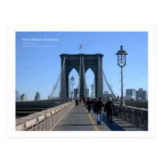 Brooklyn Bridge, New York Postcard