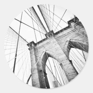 Brooklyn Bridge, New York Round Sticker