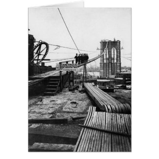 Brooklyn Bridge New York Vintage 1878 Photo Card