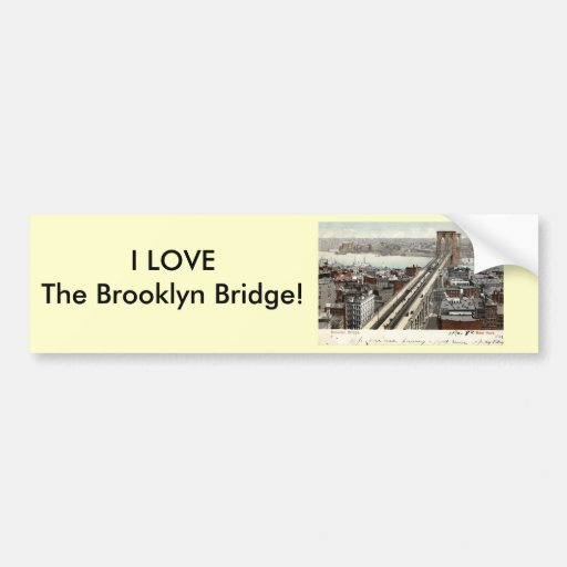 Brooklyn Bridge NY 1907 Vintage Bumper Sticker