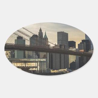 Brooklyn Bridge Oval Sticker