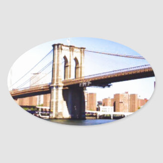 Brooklyn Bridge Oval Sticker