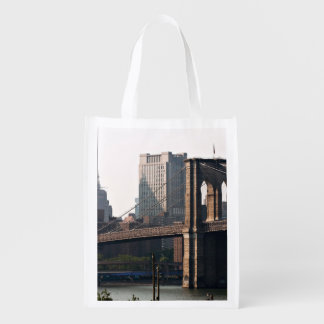 Brooklyn Bridge Panorama Reusable Grocery Bag