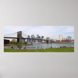 Brooklyn Bridge Panoramic Poster