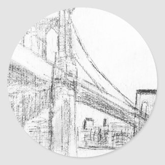 Brooklyn Bridge Round Sticker