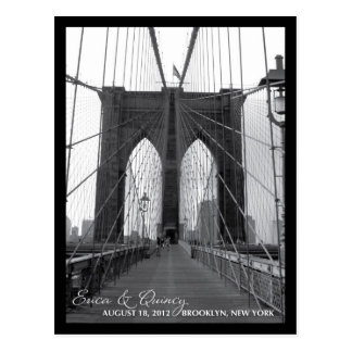 Brooklyn Bridge Save the Date Postcard