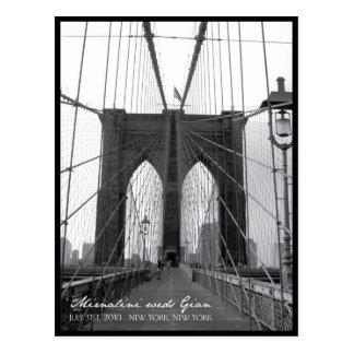 Brooklyn Bridge Save the Date Postcard