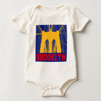 Brooklyn Bridge silhouette Baby Bodysuit