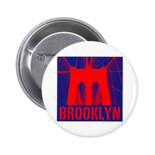 Brooklyn Bridge silhouette Pinback Buttons