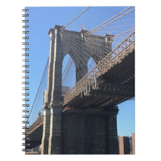 Brooklyn Bridge Sky New York City NYC Photography Spiral Notebook