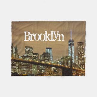 Brooklyn Bridge Skyline Fleece Blanket