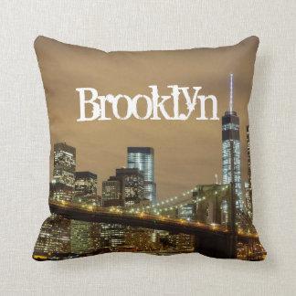 Brooklyn Bridge Skyline Throw Pillow