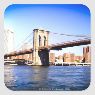 Brooklyn Bridge Square Sticker