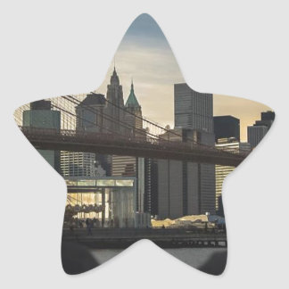 Brooklyn Bridge Star Sticker