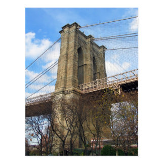 Brooklyn Bridge Tower Postcard
