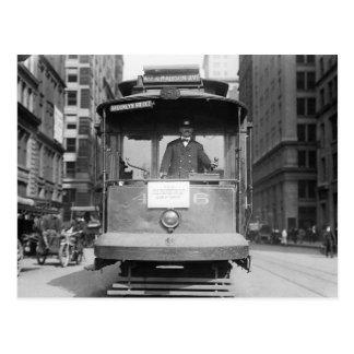 Brooklyn Bridge Trolley, 1915 Postcard
